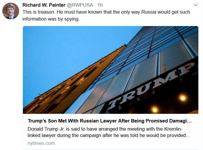 Richard W. Painter RWPUSA Twitter
